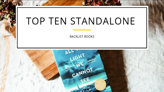 Top Ten Standalone Books (Backlist)