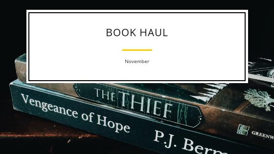 Book Haul- November