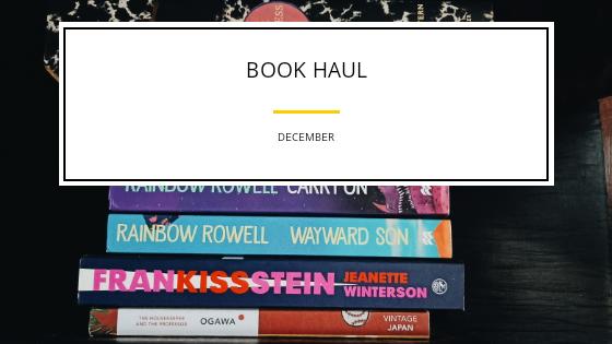 Book Haul- December